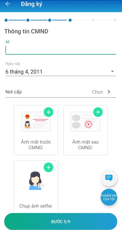 Cung cấp thông tin CMND/CCCD