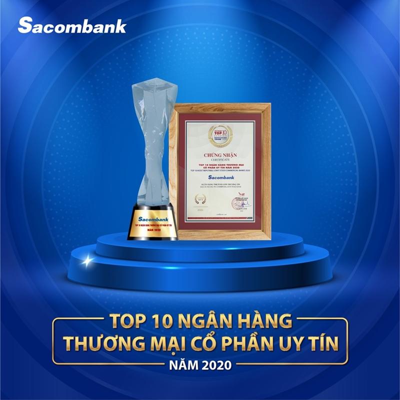 Sacombank nhận được rất nhiều giải thưởng quan trọng trong và ngoài nước