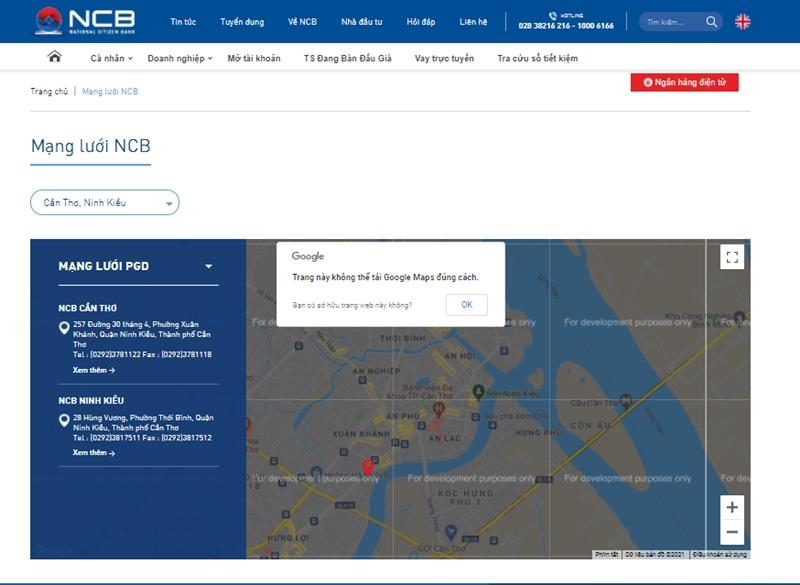 Để biết cụ thể các chi nhánh/PGD của NCB các bạn có thể trực tiếp tra cứu tại website